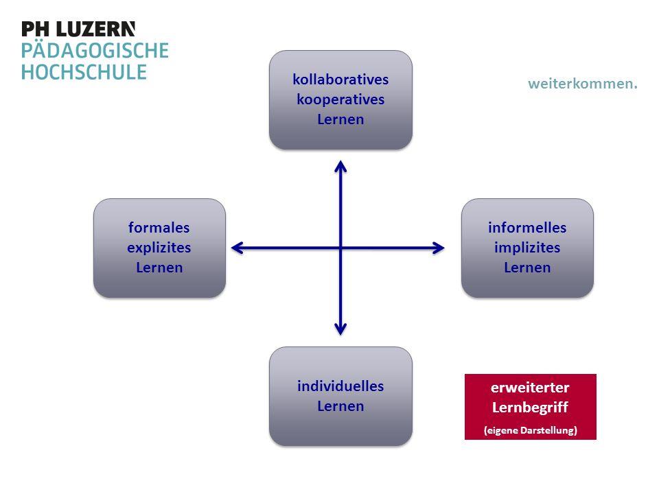 informelles implizites Lernen formales explizites Lernen