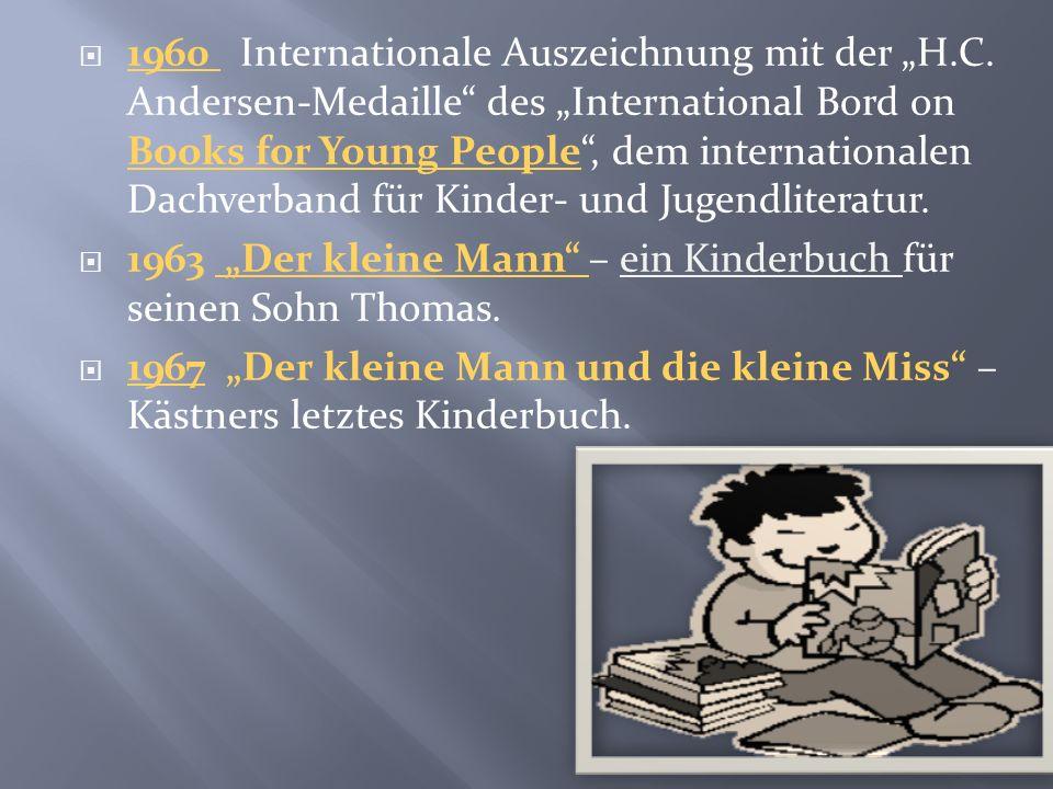 """1960 Internationale Auszeichnung mit der """"H. C"""