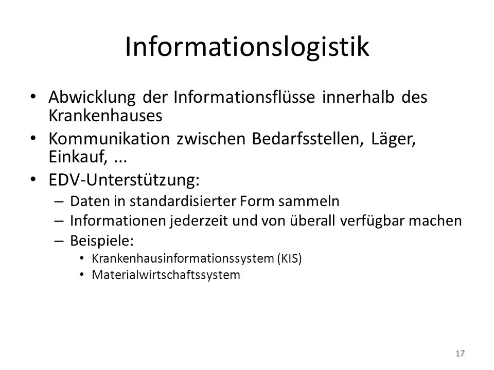 Informationslogistik