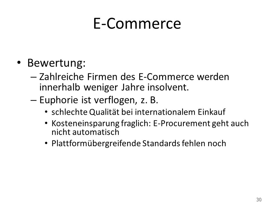 E-Commerce Bewertung: