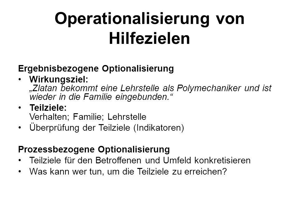 Operationalisierung von Hilfezielen
