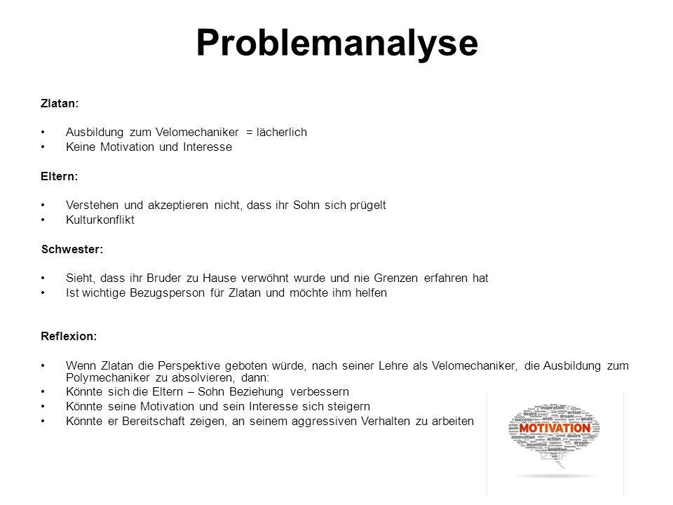Problemanalyse Zlatan: Ausbildung zum Velomechaniker = lächerlich