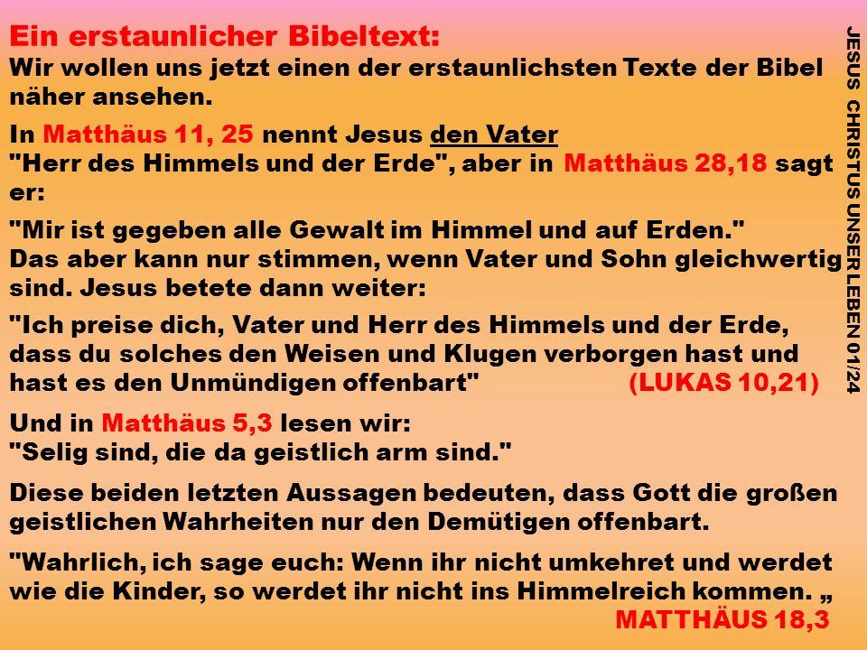 Ein erstaunlicher Bibeltext: