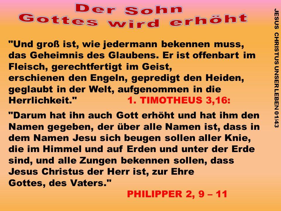 Der Sohn Gottes wird erhöht
