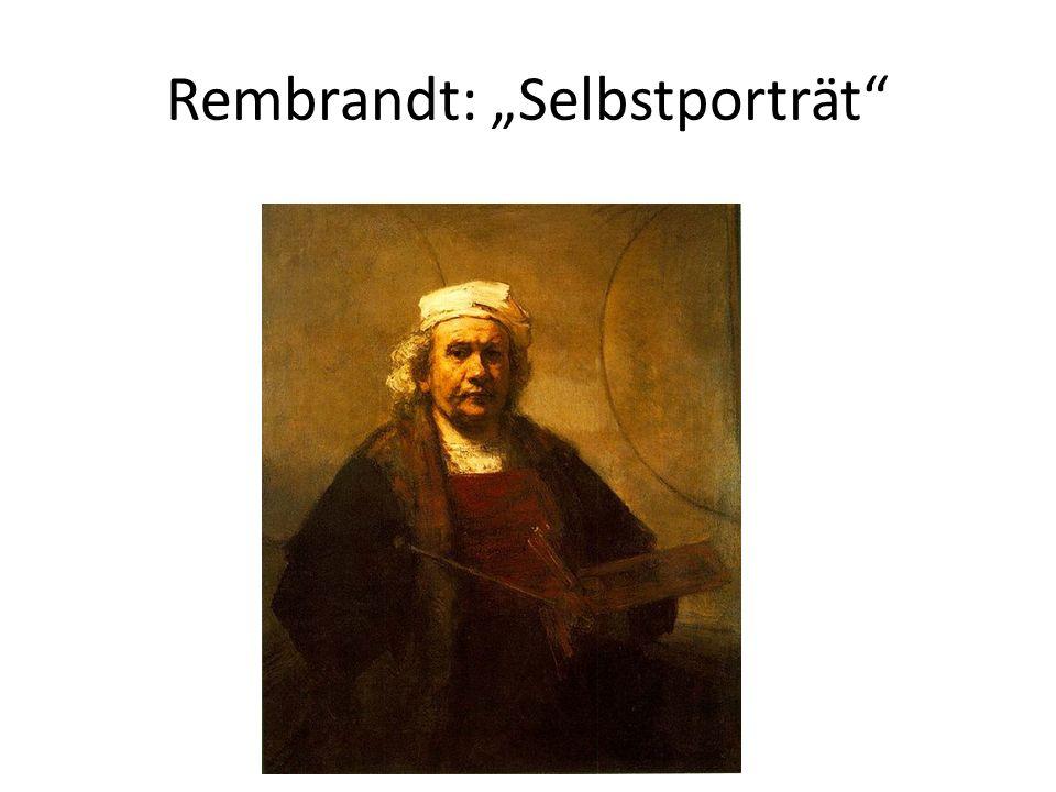 "Rembrandt: ""Selbstporträt"