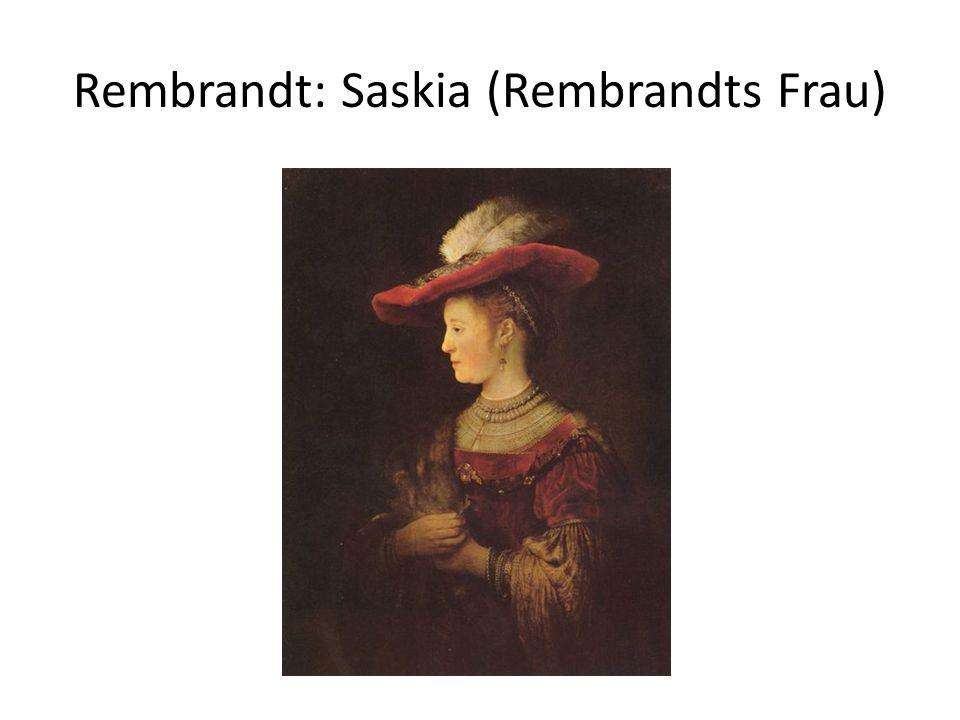 Rembrandt: Saskia (Rembrandts Frau)