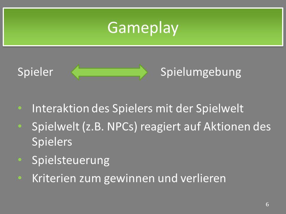 Gameplay Spieler Spielumgebung