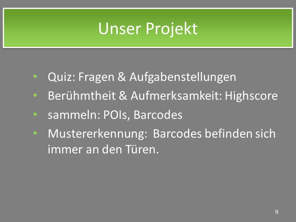 Unser Projekt Quiz: Fragen & Aufgabenstellungen
