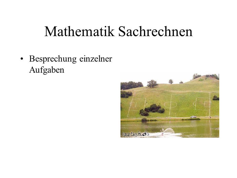 Mathematik Sachrechnen