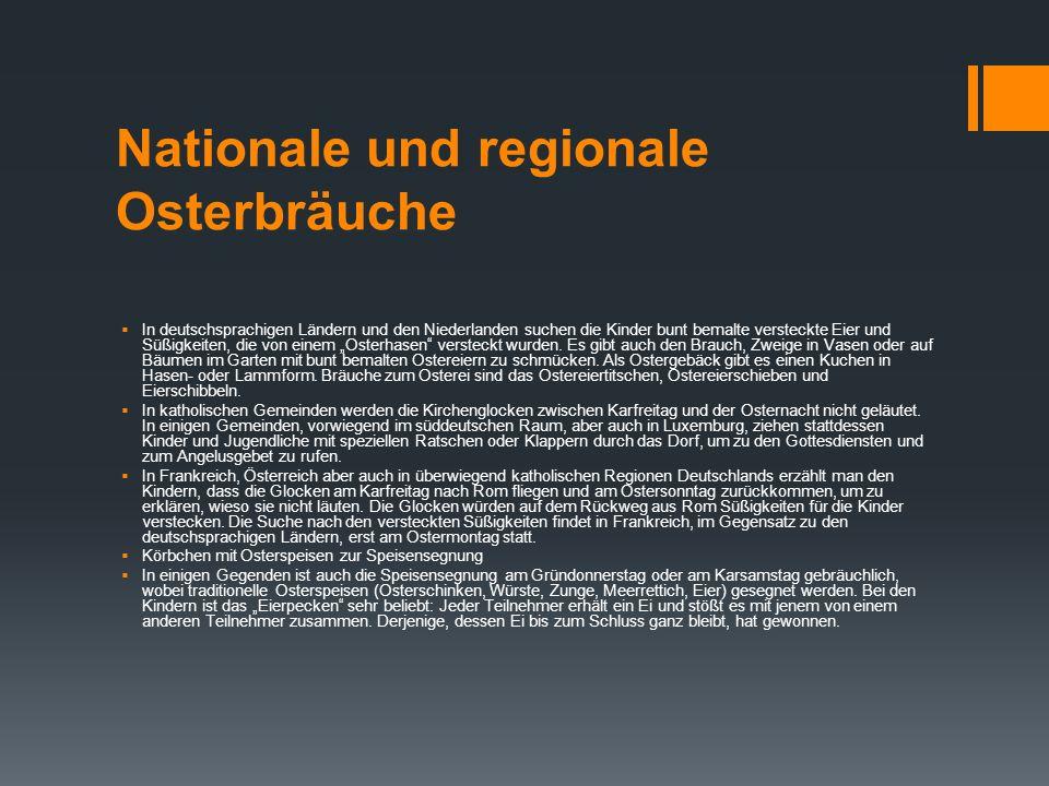 Nationale und regionale Osterbräuche