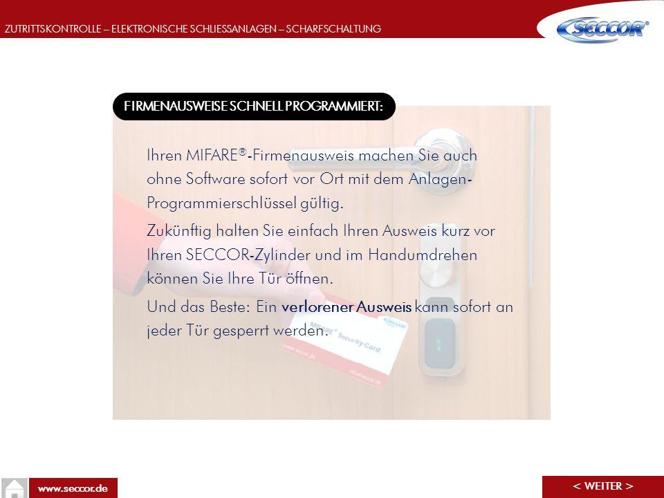 FIRMENAUSWEISE SCHNELL PROGRAMMIERT: