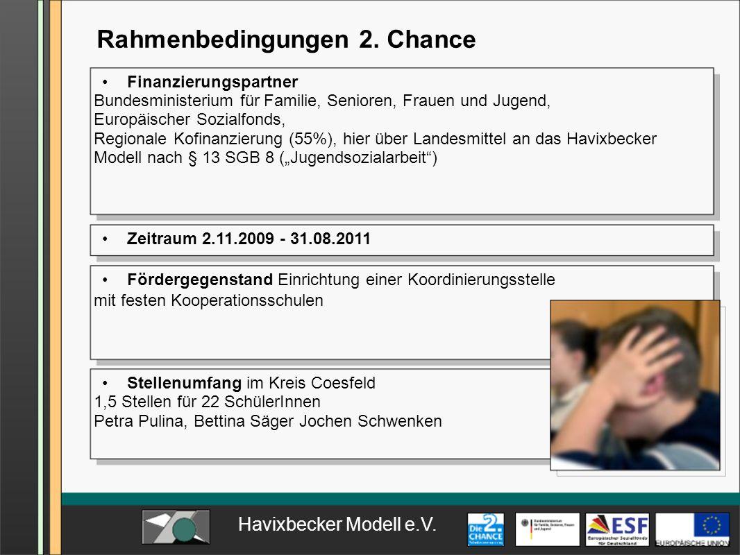 Rahmenbedingungen 2. Chance
