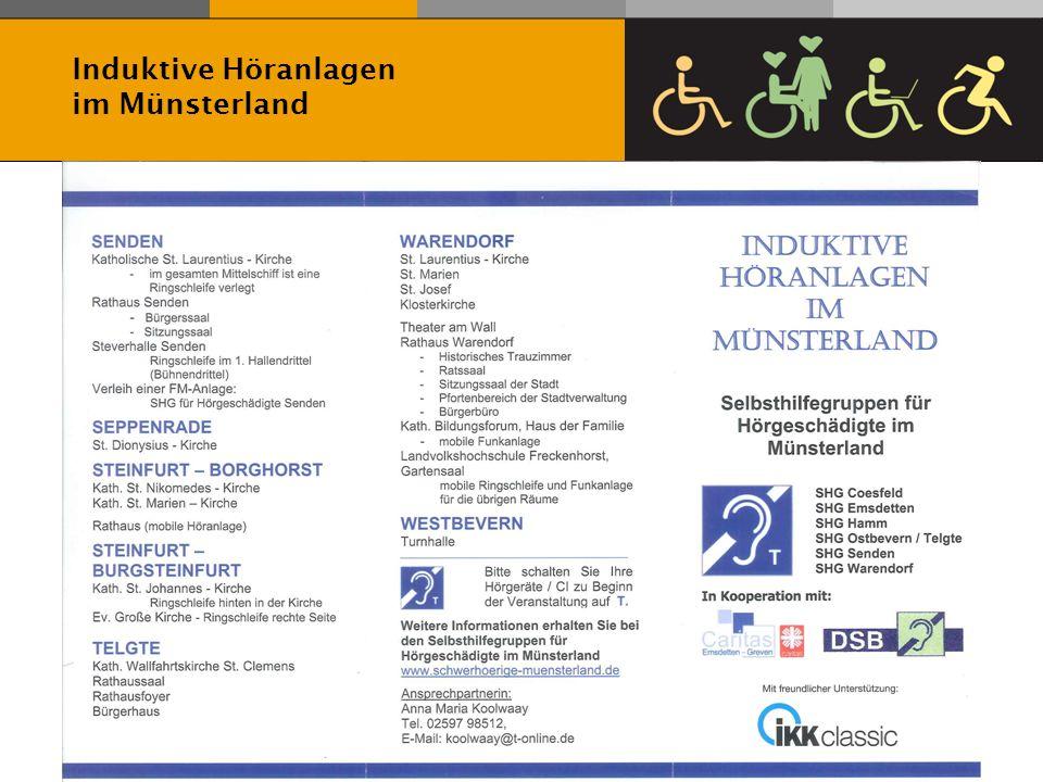 Induktive Höranlagen im Münsterland