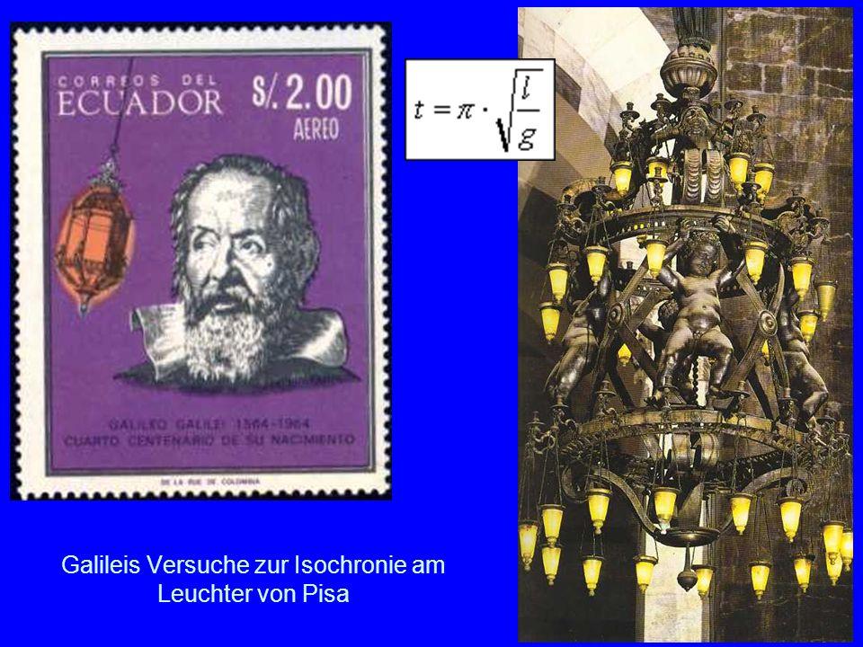 Galileis Versuche zur Isochronie am Leuchter von Pisa