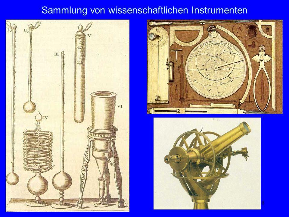 Sammlung von wissenschaftlichen Instrumenten