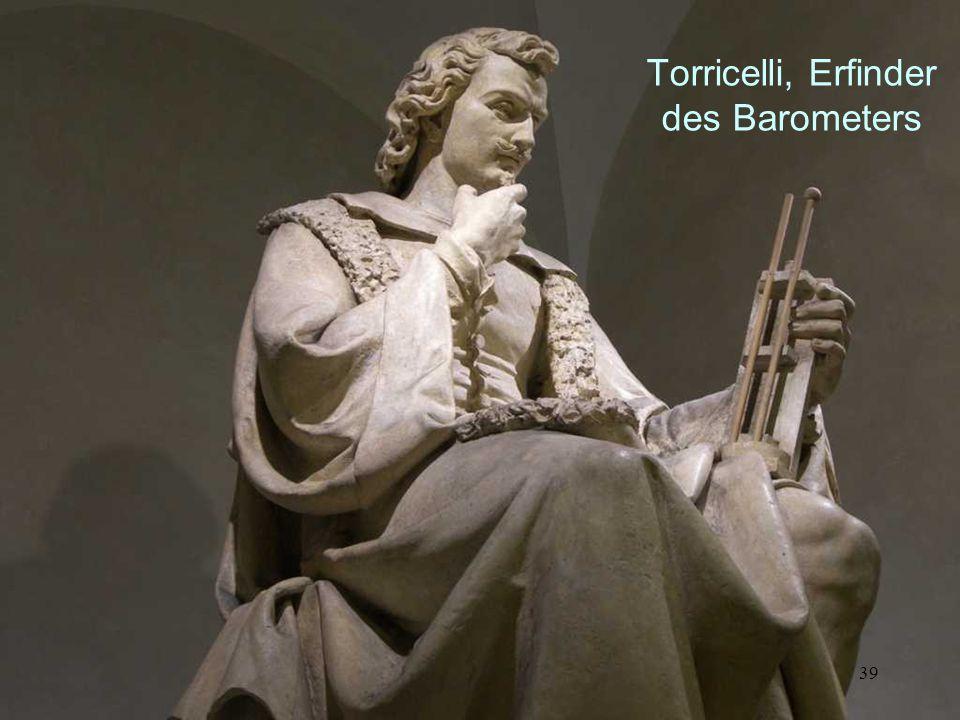 Torricelli, Erfinder des Barometers