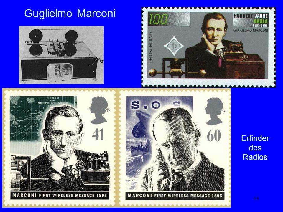 Guglielmo Marconi Erfinder des Radios