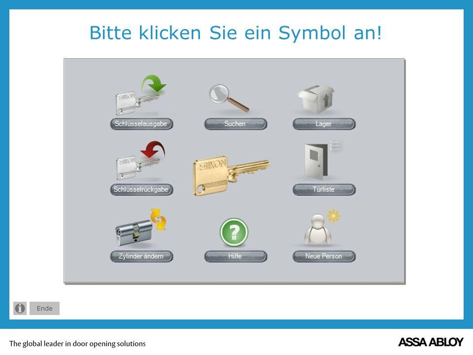 Bitte klicken Sie ein Symbol an!