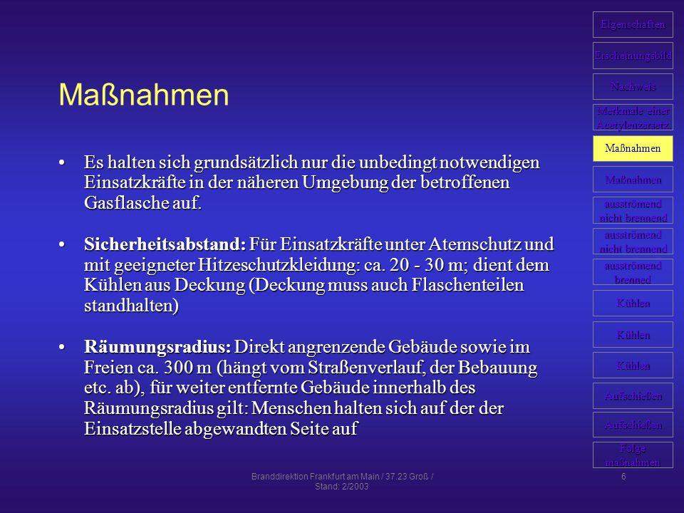 Branddirektion Frankfurt am Main / 37.23 Groß / Stand: 2/2003