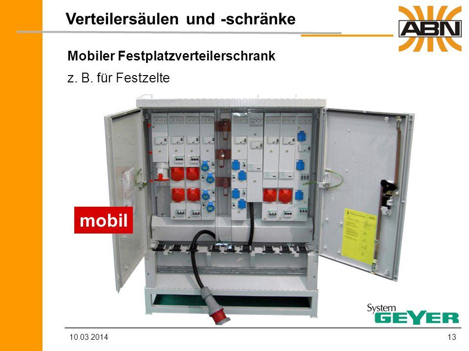 mobil Verteilersäulen und -schränke Mobiler Festplatzverteilerschrank