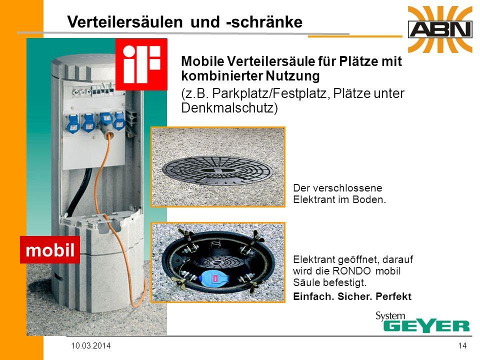 mobil Verteilersäulen und -schränke