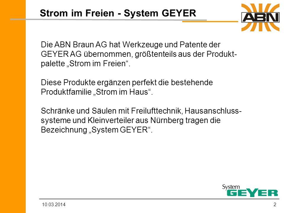 Strom im Freien - System GEYER