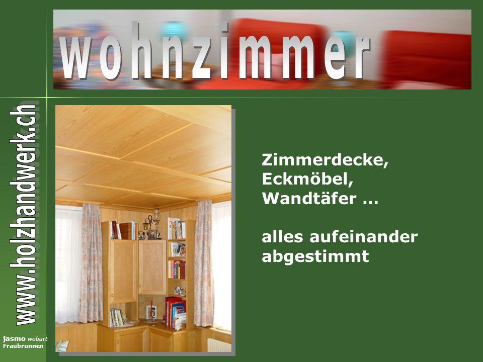 wohnzimmer Zimmerdecke, Eckmöbel, Wandtäfer … alles aufeinander