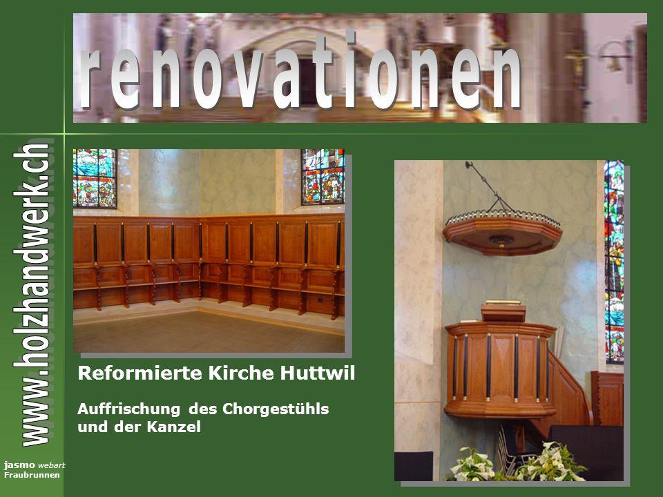renovationen Reformierte Kirche Huttwil Auffrischung des Chorgestühls