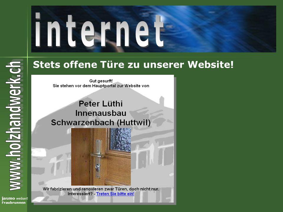 internet Stets offene Türe zu unserer Website!