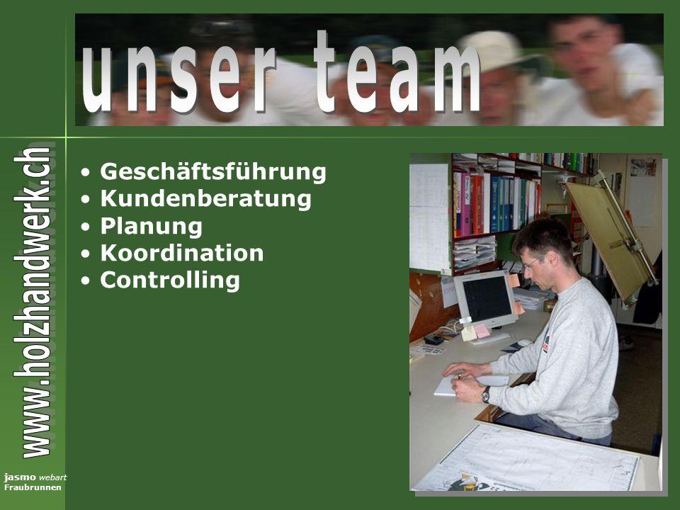 unser team Geschäftsführung Kundenberatung Planung Koordination