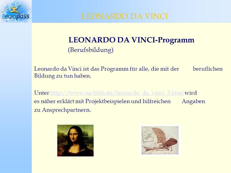 LEONARDO DA VINCI-Programm