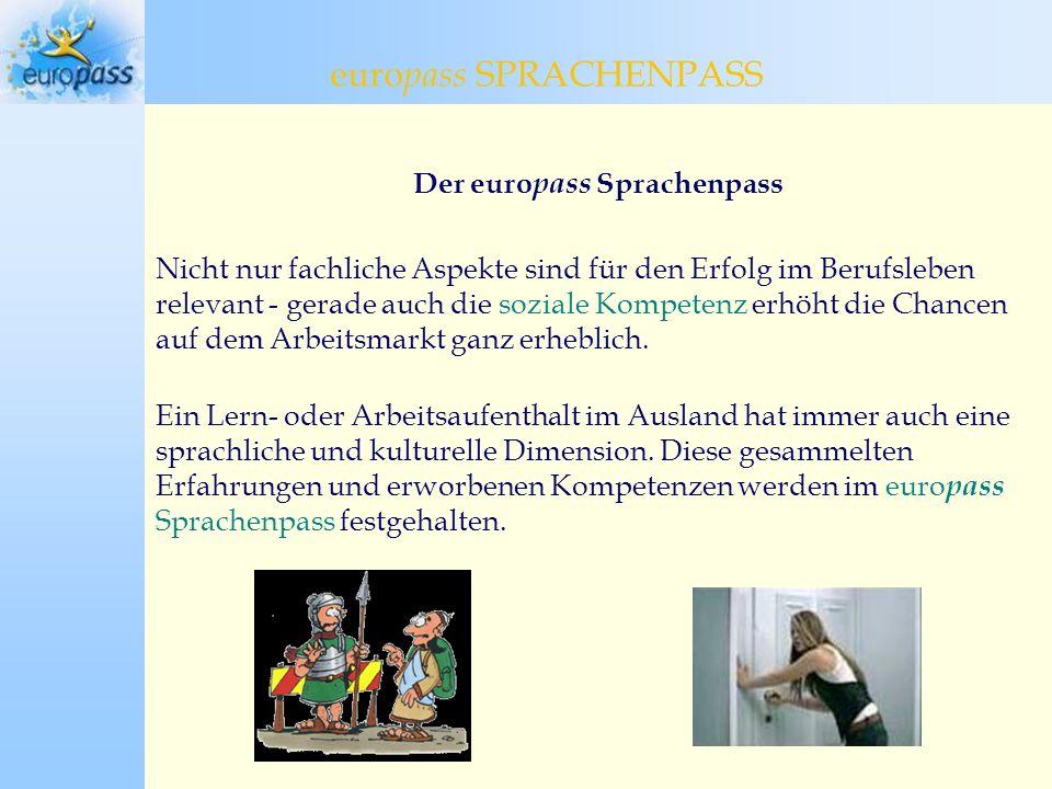 Der europass Sprachenpass