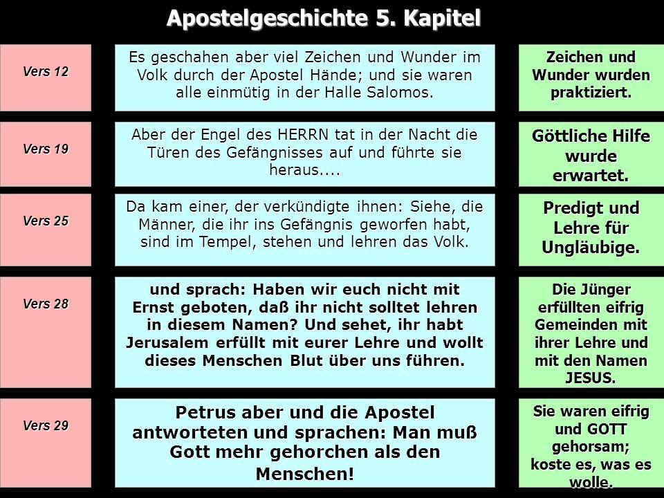 Apostelgeschichte 5. Kapitel