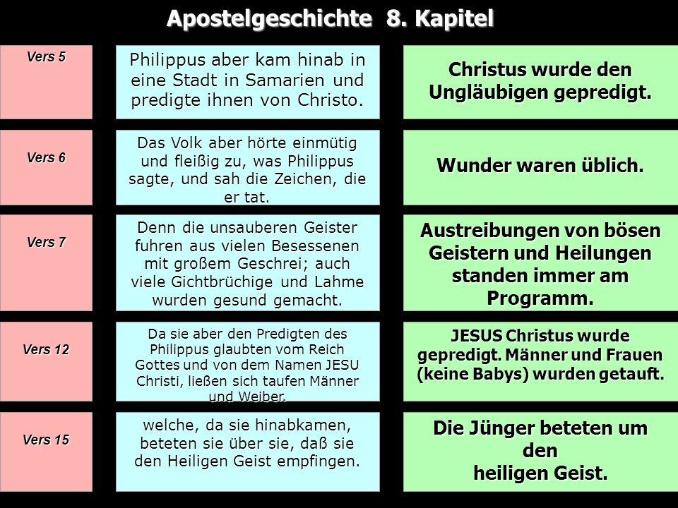 Apostelgeschichte 8. Kapitel