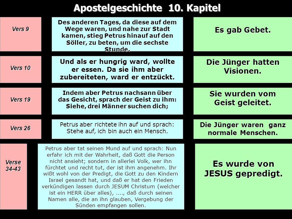 Apostelgeschichte 10. Kapitel