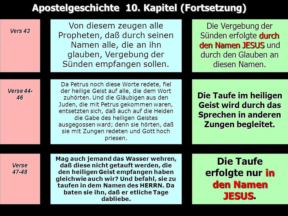 Apostelgeschichte 10. Kapitel (Fortsetzung)