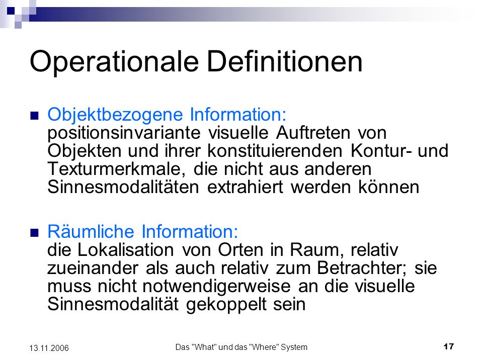 Operationale Definitionen