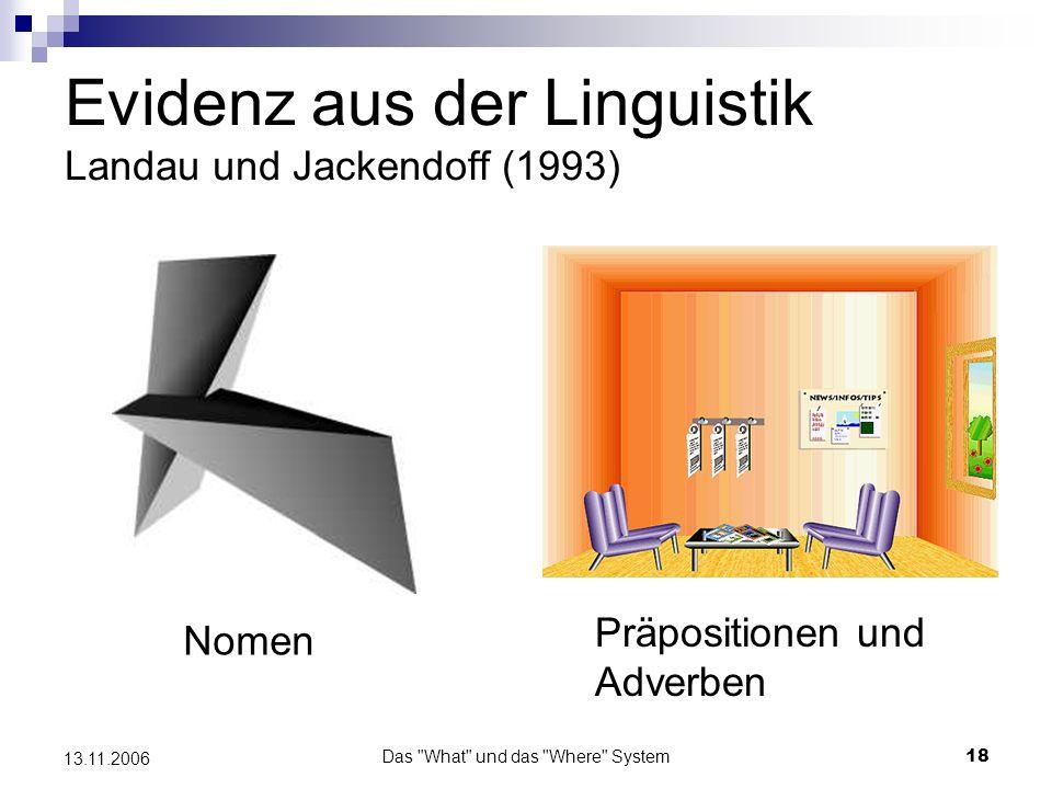 Evidenz aus der Linguistik Landau und Jackendoff (1993)