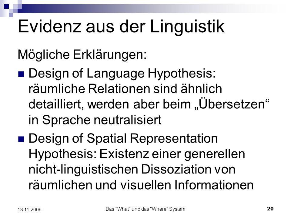 Evidenz aus der Linguistik