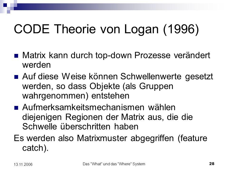 CODE Theorie von Logan (1996)