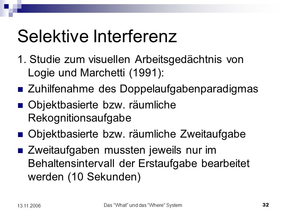 Selektive Interferenz