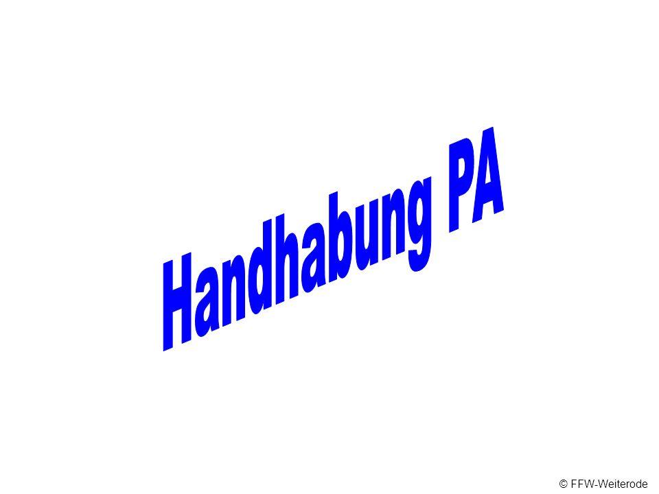 Handhabung PA © FFW-Weiterode