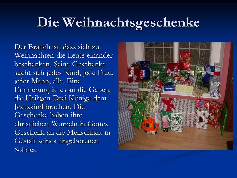 Die Weihnachtsgeschenke