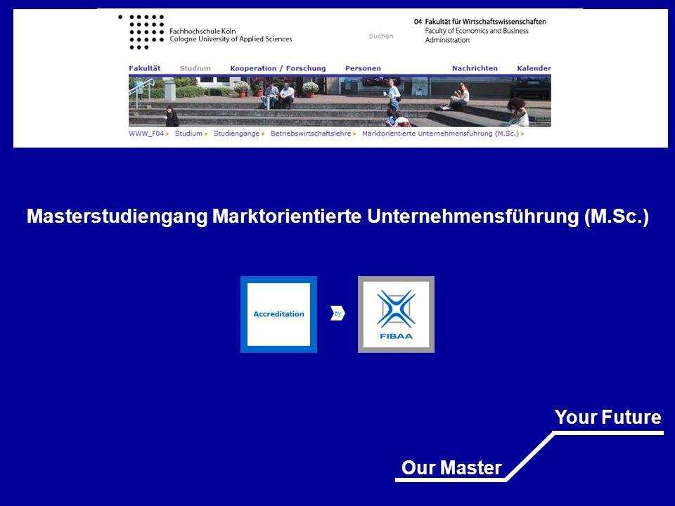 Masterstudiengang Marktorientierte Unternehmensführung (M.Sc.)
