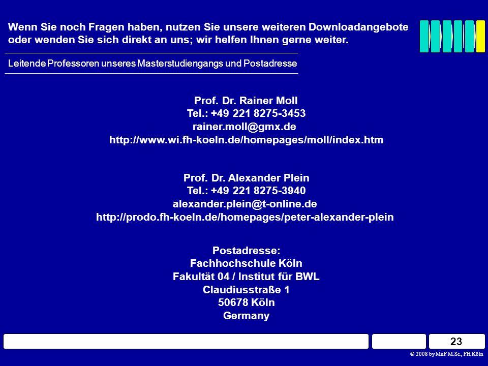 Prof. Dr. Alexander Plein Fakultät 04 / Institut für BWL
