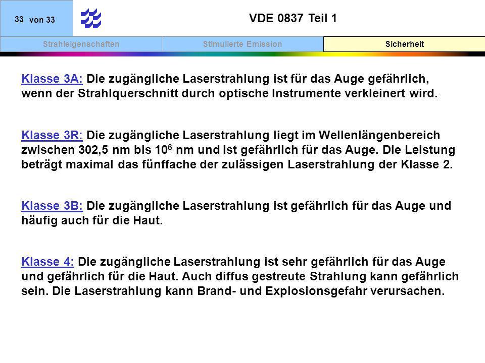 VDE 0837 Teil 1 Sicherheit.