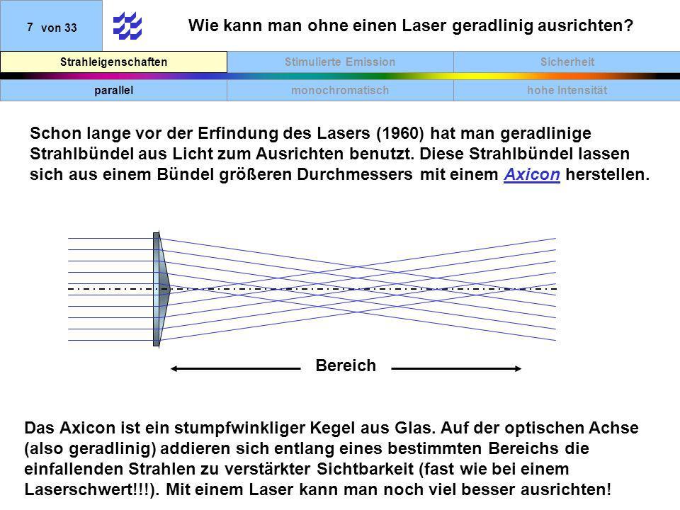 Wie kann man ohne einen Laser geradlinig ausrichten