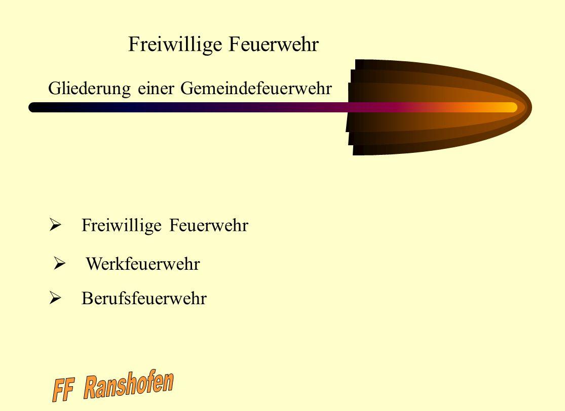 FF Ranshofen Freiwillige Feuerwehr Gliederung einer Gemeindefeuerwehr