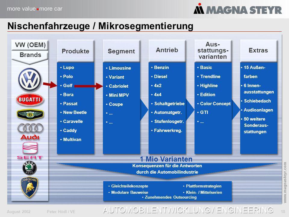 Nischenfahrzeuge / Mikrosegmentierung
