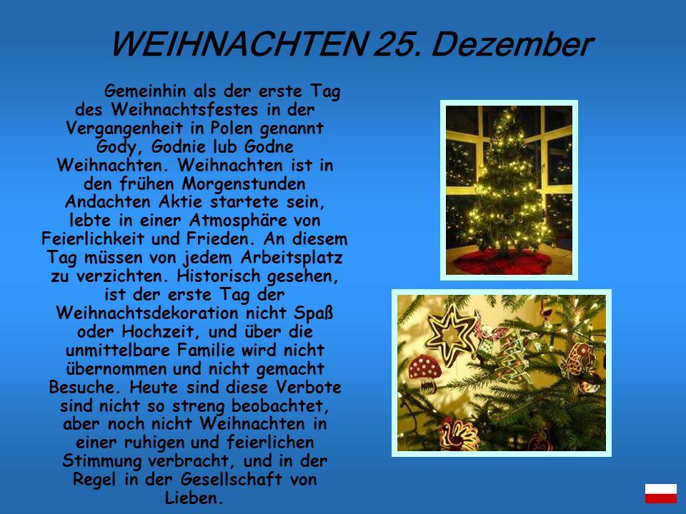 WEIHNACHTEN 25. Dezember